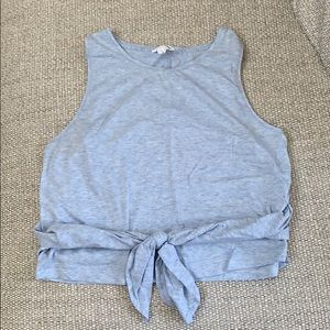 Club Monaco Cropped Tank with Front Tie